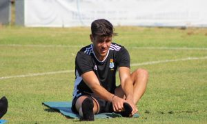 Carlos Martínez se ha entrenado con el grupo y tiene muchas opciones de estar ante el Atlético Malagueño. / Foto: www.recreativohuelva.com.