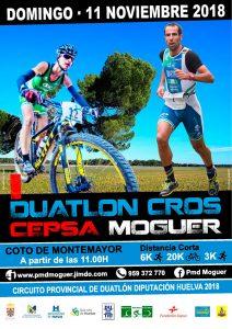 Cartel de la prueba deportiva que se celebra en Moguer este próximo domingo.