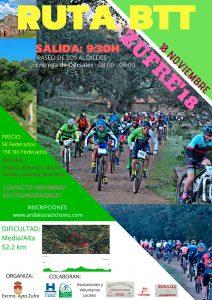 Cartel de la prueba ciclista que se celebrará en Zufre el día 18 de noviembre.