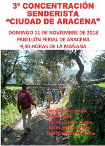 Cartel del evento que tendrá lugar en Aracena este domingo.