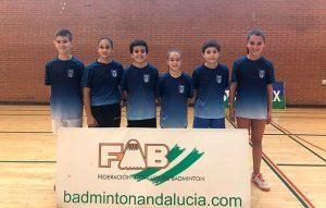 Componentes del CD Bádminton Huelva en la Liga Andaluza 'Se Busca Campeón'.
