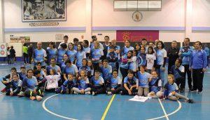 Componentes del Club Asirio en el torneo celebrado en Puerto Real.