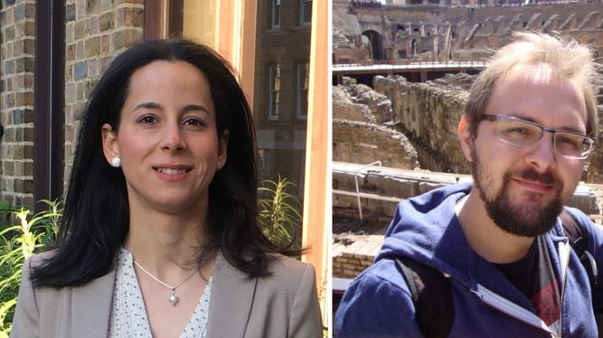 Mª Ángeles Fuentes y Santiago Robles, ganadores de los Premios Jóvenes Investigadores de la Academia de Ciencias, Artes y Letras de Huelva