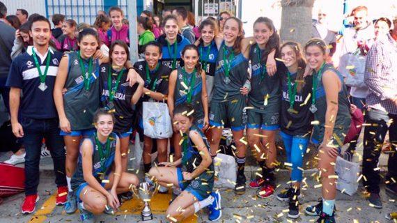 Huelva se cuelga la plata en el Andaluz de Selecciones Provinciales Infantil Femenino de baloncesto