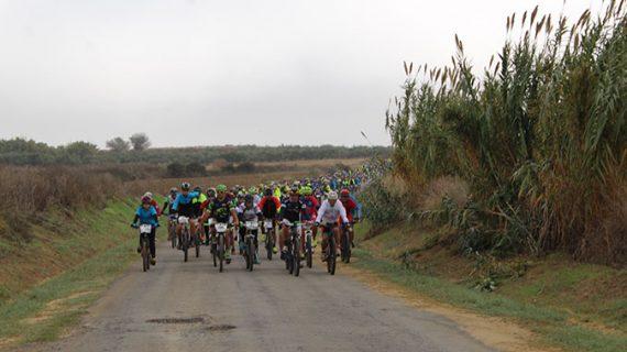 Cerca de 300 ciclistas se dan cita en Chucena en la IV Ruta Cicloturista Vino del Condado