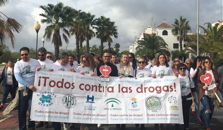 Isla Cristina emprende un año más su marcha contra las drogas