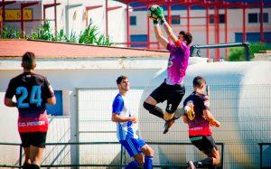 El Pinzón 'pescó' un punto en la Ciudad Deportiva del Decano. / Foto: @MariiMartin92.