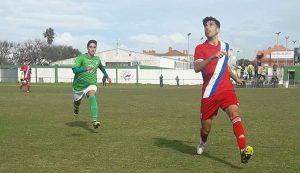 Tras igualar en Rota, el filial del Recre confía en sacar adelante su partido ante el Atlético Algabeño. / Foto: @CDRota_Oficial.