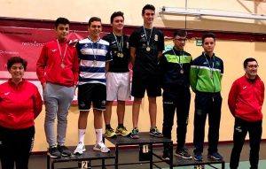 Alejandro Pérez se colgó la medalla de plata en el dobles masculino Sub 19 en el TTR de Montilla.