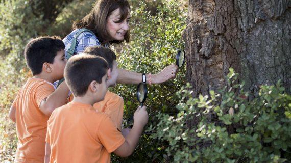 Más de un centenar de menores conocen la flora y fauna del pulmón verde de la ciudad