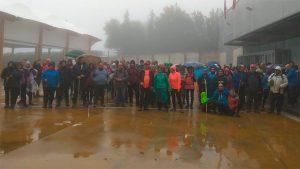 Pese a las condiciones meteorológicas, la cita senderista fue todo un éxito.