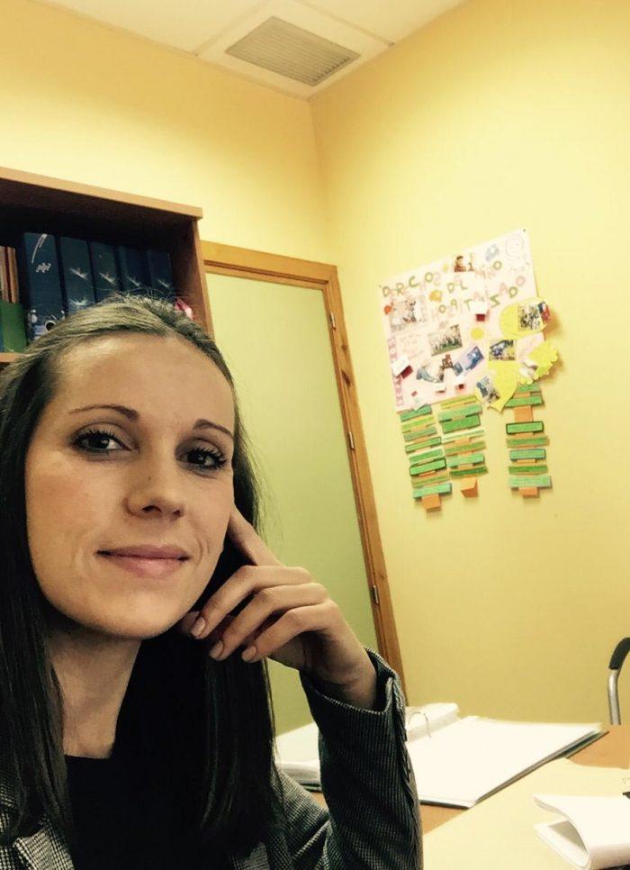 La almonteña Cristina Díaz Periánez, una enfermera profesora de la Universidad de Huelva