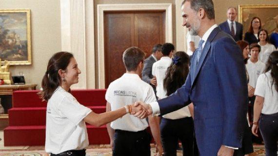 La experiencia de Fátima Rebollo en las Becas Europa y su encuentro con el Rey