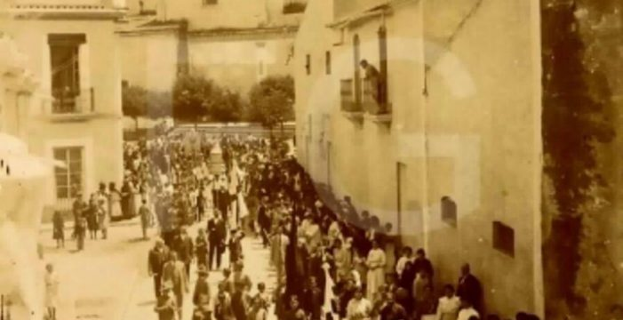 Calle Real de La Palma del Condado, segunda década del siglo XX