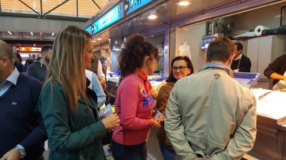 Ciudadanos visita el Mercado del Carmen de Huelva