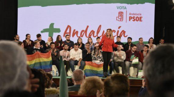 Susana Díaz pide en Bollullos una mayoría tan amplia que en enero el Gobierno esté en marcha