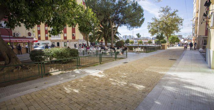 Finalizados los nuevos espacios peatonales del Parque de La Luz