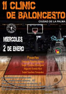 Cartel del II Clinic de Baloncesto 'Ciudad de La Palma', que tendrá lugar este miércoles.