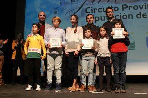 Algunos de los pequeños que recibieron su galardón en este acto celebrado en Almonte.