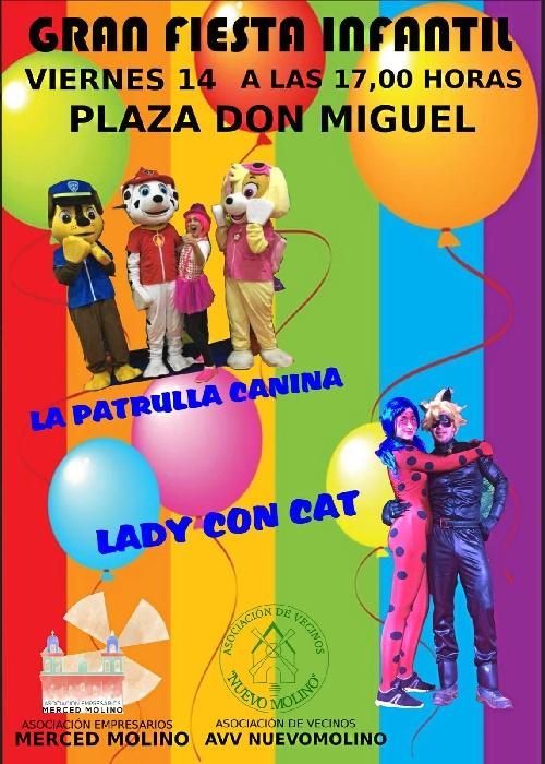Las plazas de El Molino, El Carmen y La Orden acogerán espectáculos infantiles esta Navidad