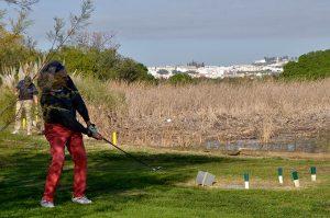 Una buena jornada de golf se pudo ver en la final del Circuito Regional de la Cadena Cope de golf, evento celebrado en Isla Canela. / Foto: J. L. Rúa.