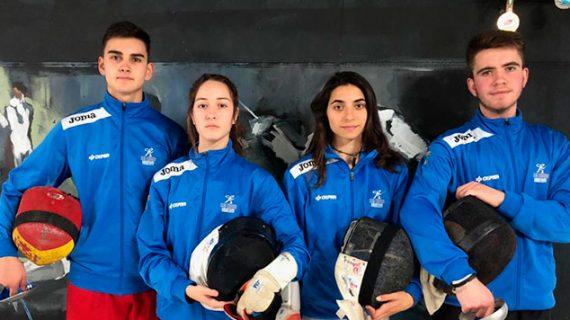 Cuatro tiradores del Club Esgrima Huelva acuden a Madrid a una concentración de la Federación