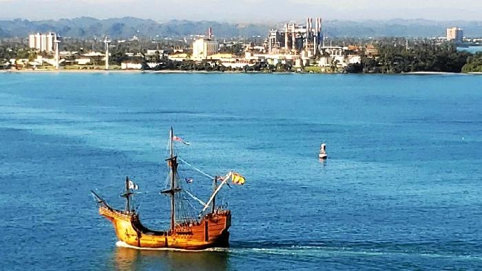 La Nao Santa María llega a San Juan de Puerto Rico