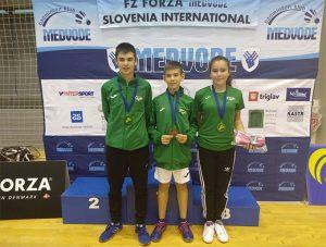 Guillermo Nuviala logró el oro en dobles Sub 13 en Eslovenia en su estreno como internacional.