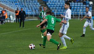El Recre tenía el partido controlado, pero un error el árbitro le llevó al empate. / Foto: Pablo Sayago.