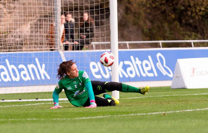 Sara Serrat, convocada por España para el amistoso ante Camerún. / Foto: www.lfp.es.
