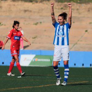 El Sporting Puerto de Huelva pudo celebrar por fin su primer triunfo. / Foto: www.lfp.es.