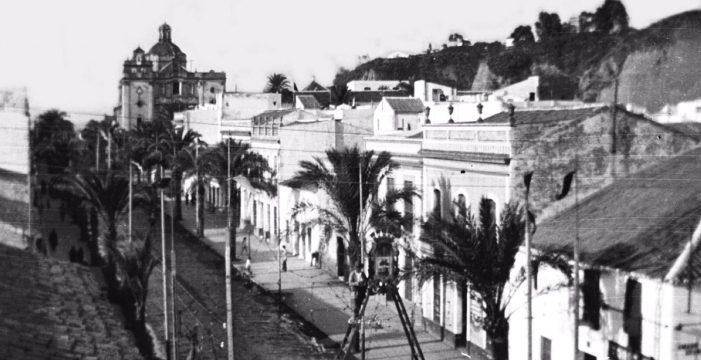 Paseo de la Independencia o Antigua Vega Larga, década de los cuarenta del siglo XX