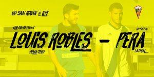 El San Roque da la bienvenida al delantero Lois Robles y al defensa Andrés 'Pera'.