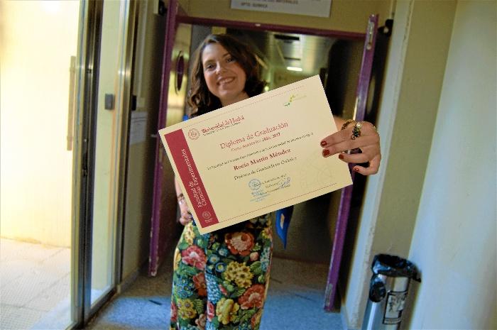 La onubense Rocío Martín Méndez consigue el premio del Colegio de Químicos de Andalucía al mejor TFG