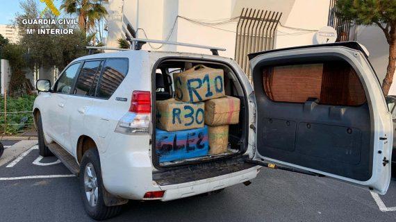 La Guardia Civil junto con Vigilancia Aduanera frustran un alijo de hachís en Punta Umbría