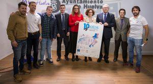 Un momento de la presentación de la carrera '10K Huelva Puerta del Descubrimiento' del 4 de mayo.