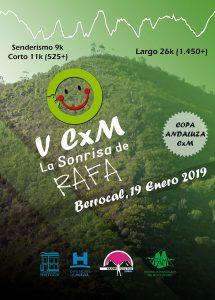 Cartel de la prueba solidaria 'La Sonrisa de Rafa', que tendrá lugar en Berrocal el próximo 19 de enero.