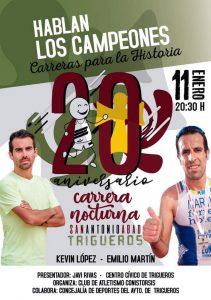 La charla-coloquio 'Hablan los campeones' abrirá dos jornadas de mucho atletismo en Trigueros.