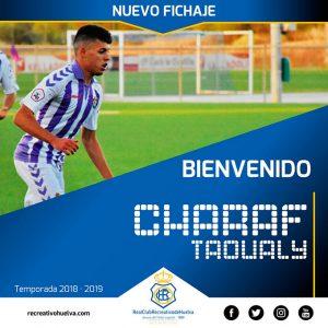 Charaf llega al Recre cedido por el Real Valladolid. / Foto: @recreoficial.