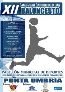 Cartel del torneo de baloncesto que tendrá lugar en Punta Umbría.