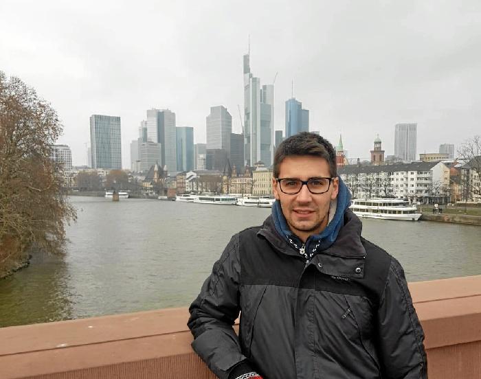 El ingeniero Daniel David Linares, de Aljaraque a trabajar en una empresa de software en Alemania