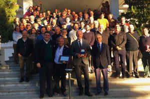 Miguel Sánchez fue homenajeado por los socios del Club de Golf Bellavista.