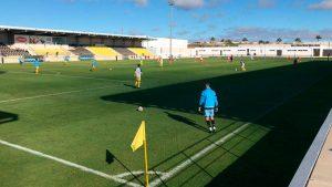 El partido Isla Cristina-San Roque se jugó en el Ciudad de Lepe. / Foto: @islacristinafc.