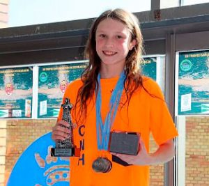 Michelle Mora Toscano, mejor nadadora onubense en el Trofeo.