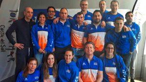 Representantes del CD Máster Huelva en el Campeonato de Andalucía de Invierno de Natación.
