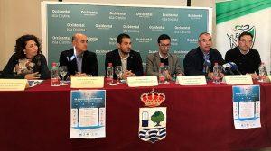 Un momento de la presentación del Campeonato de España de Selecciones Territoriales masculinas Sub 19 y Sub 16 de fútbol sala que tendrá lugar en Isla Cristina y Lepe.