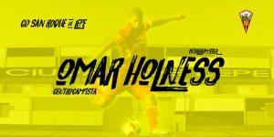 Omar Holmes, nuevo jugador del San Roque de Lepe. / Foto: @SanRoqueLepe.