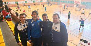 Representantes del Recre IES La Orden en el Campeonato de Andalucía Senior de bádminton.