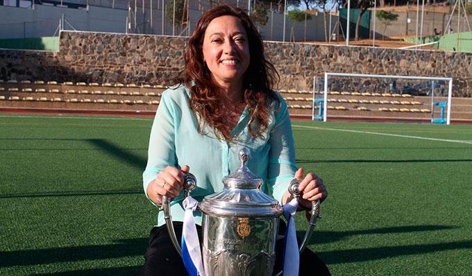 Manuela Romero, presidenta del Sporting de Huelva. / Foto: @sportinghuelva.