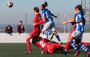 Anita abrió el marcador para el Sporting en su partido ante el Sevilla. / Foto: www.lfp.es.